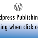 Wordpress publishing issue